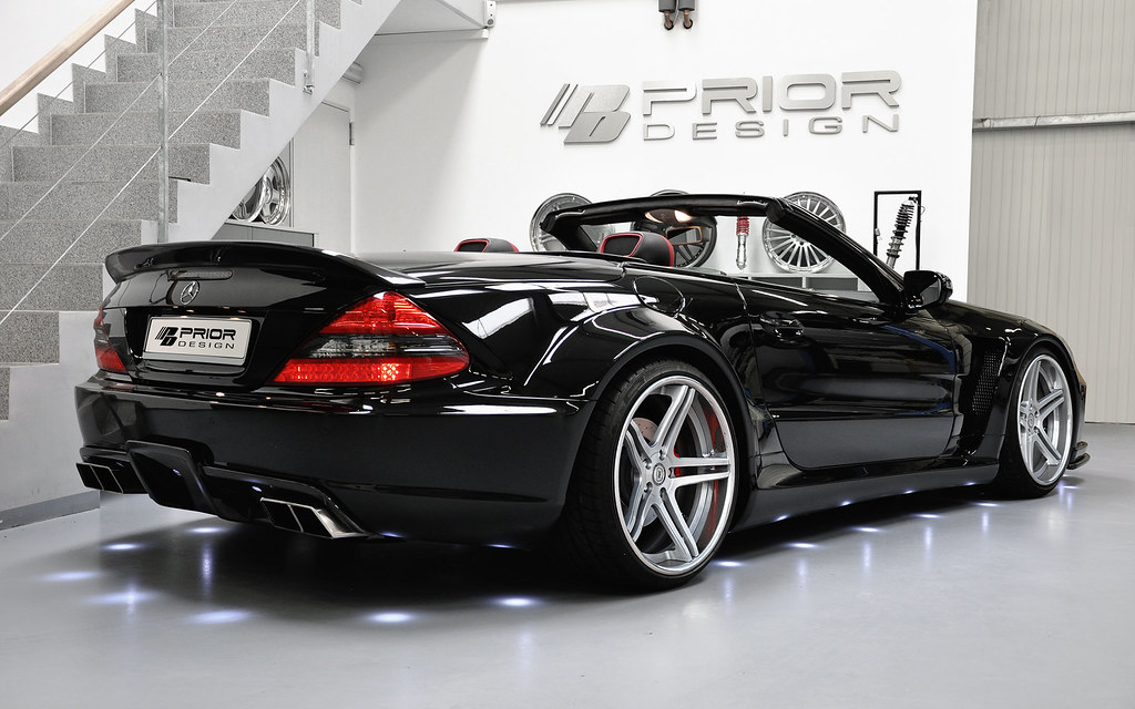 mercedes sl r230 widebody kit sl65 sl55 sl63 sl600 amg. Black Bedroom Furniture Sets. Home Design Ideas