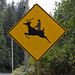 funny road sign rudolph