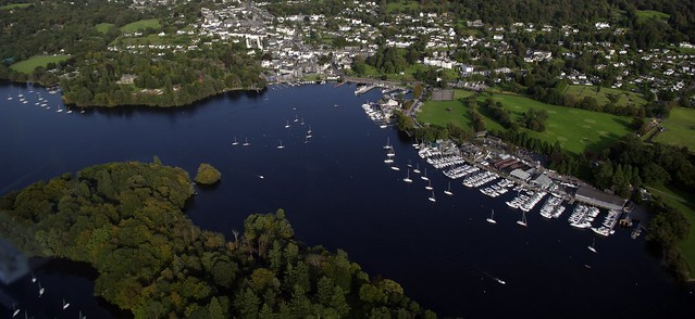 Bowness-on-Windermere, Cumbria - from the air