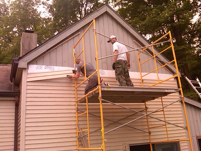 Vinyl siding over vertical shiplap flickr photo sharing Vinyl siding vertical
