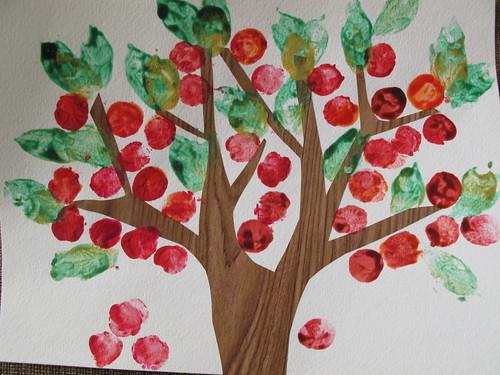 fall apple tree craft