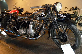 1932 Ariel Sloper SG 500cc single in the Finnish Motorcycle Museum in Lahti