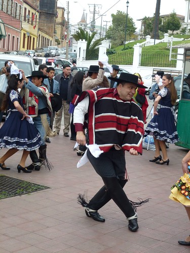 Local dancers celebrating Chile's Independence Day