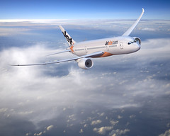 Boeing 787 Dreamliner in flight