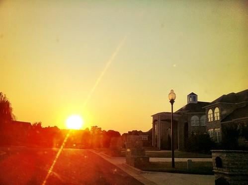 sunset ray neighborhood lensflare