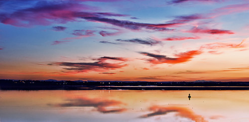 pink sunset sky clouds liverpool reflections river evening dusk sunday estuary mersey merseyside sliders hss nikond40