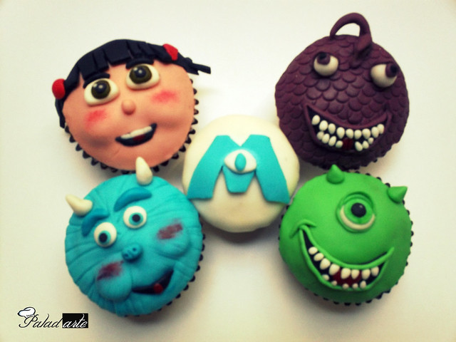 how to make monsters inc cupcakes