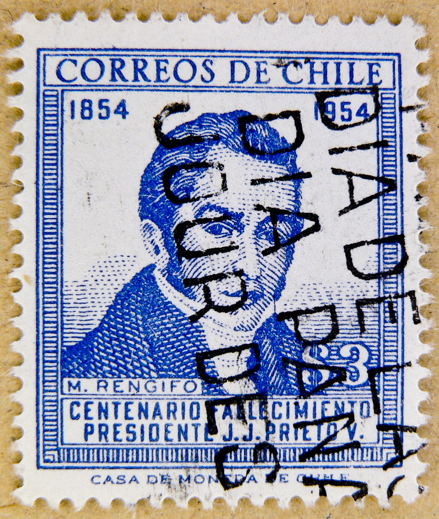 Stamp Chile Postage 300 S 3p Manuel Rengifo 1793 1845 Correos De Stamps Poste