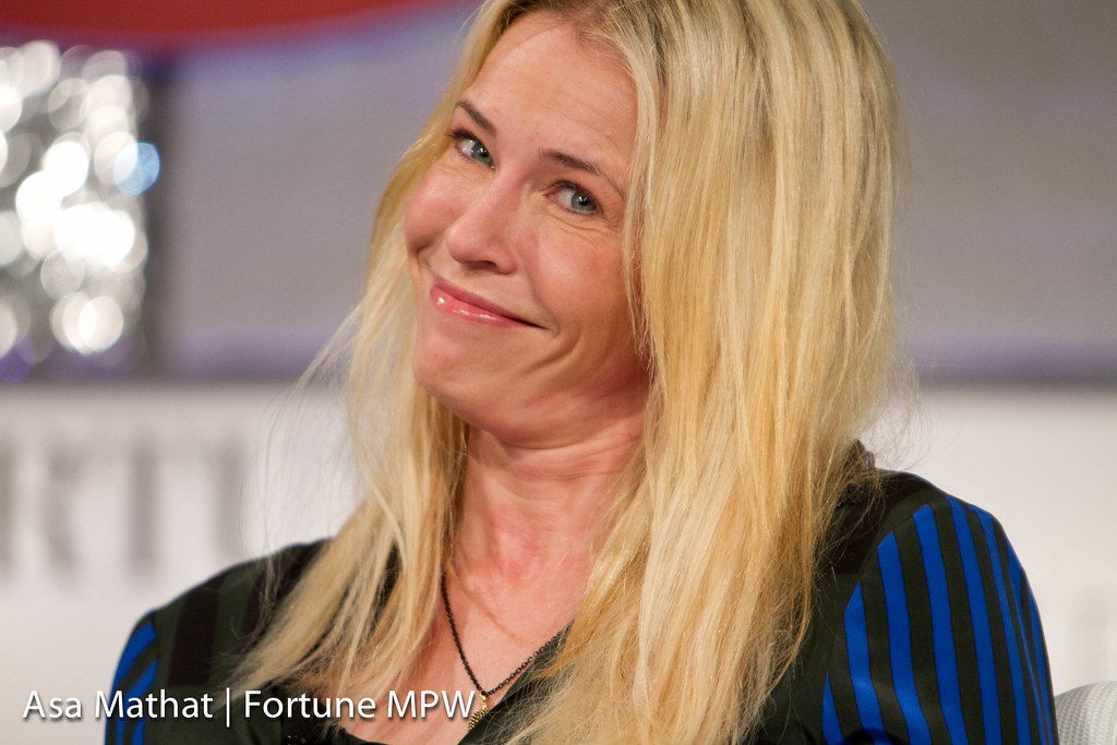 Chelsea Handler, Bestselling Author, Talk Show Host, Comedian, Actor, and interviewer: Pattie Sellers of Fortune speaking at session: WOMEN, POWER, HUMOR, AND MAKING IT BIG