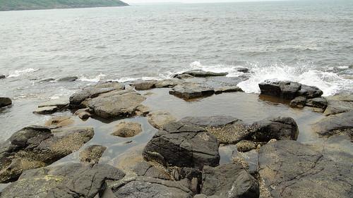 Choppy sea at Bamanghal
