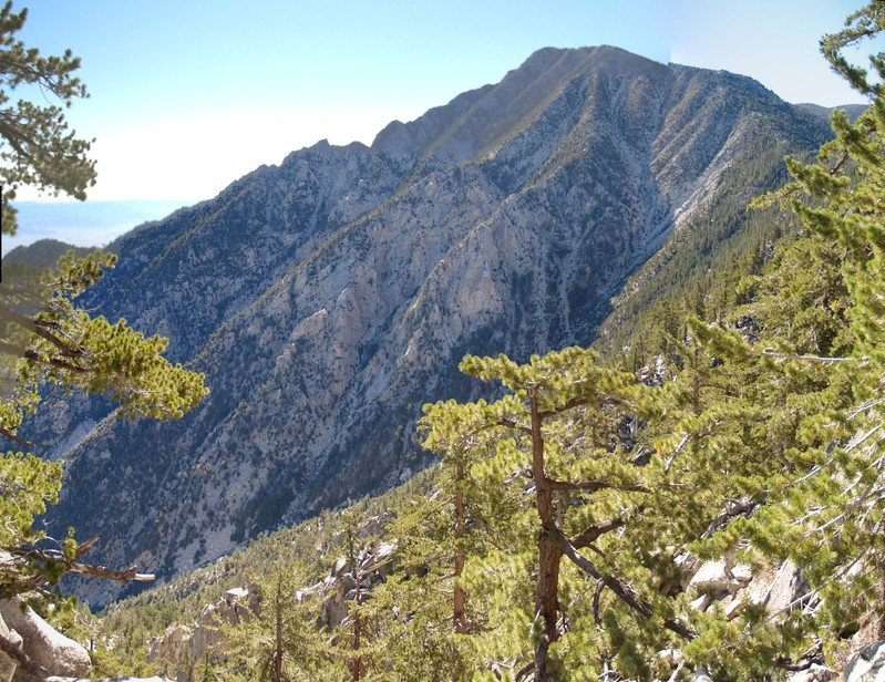 The north face of San Jacinto Peak from the Fuller Ridge Trail