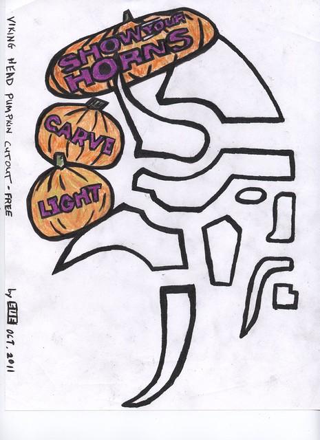 Free mn viking pumpkin stencil flickr photo sharing