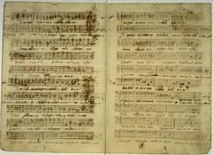 sheet music, writing, text,