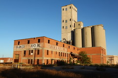 Abandoned grain elevator, downtown Wichita Falls TX
