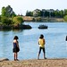 Small photo of Family Fishing at Almaden Lake