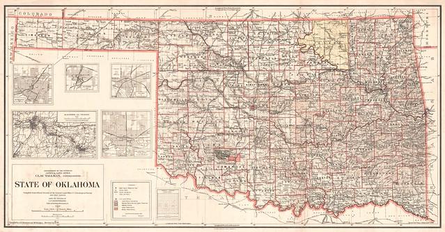 Oklahoma State Map 1914 Flickr Photo Sharing