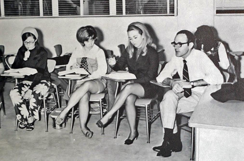 Big retro vintage teen schoolgirl upskirts