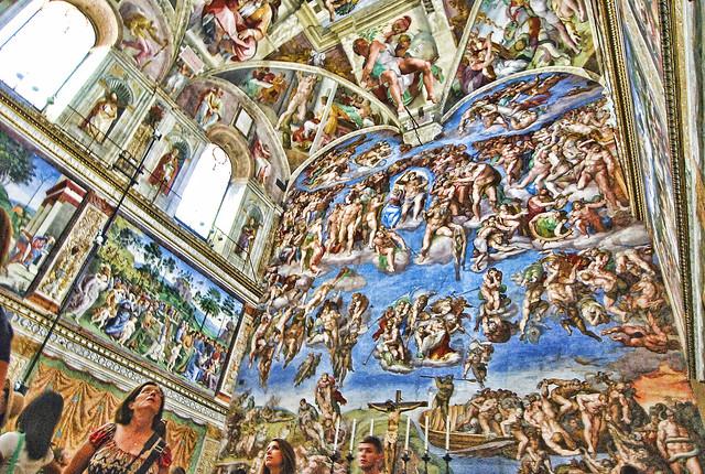 Michelangelo's Sistine Chapel.-