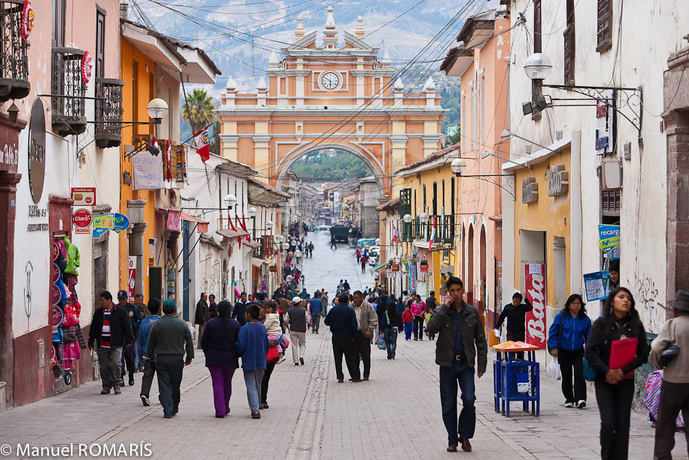 Ayacucho, Peru, crowded street