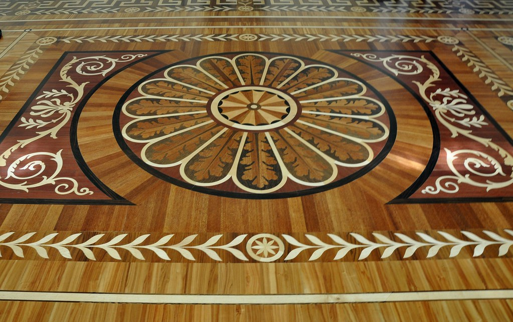 Parquet Flooring Hardwood Floor Border Medallion Inlays St - Is parquet flooring expensive
