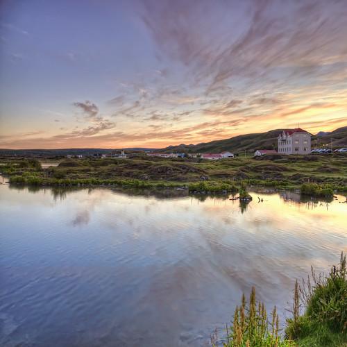 panorama lake reflection sunrise iceland hdr ísland mývatn reykjahlíð nikond90