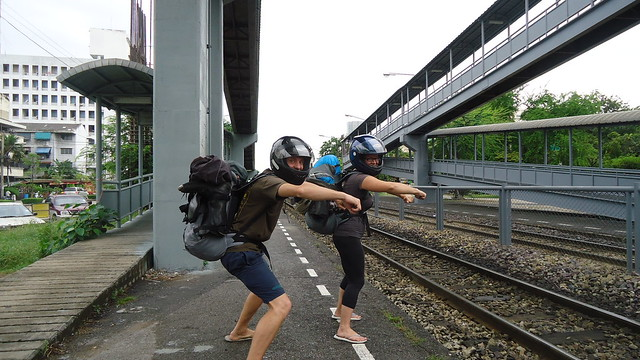 Day 118: Waiting For The Train To Malaysia: Motorcyclists Without Motorcycles!