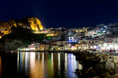 night landscape greece parga πάργα nikond7000