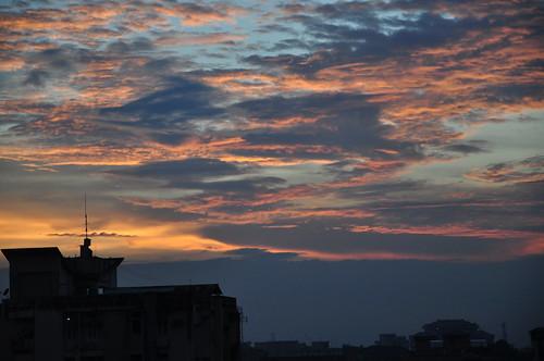 sunset goldensunset assam guwahati sooc nikond90 silpukhuri earlyautumnsky