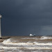 Stormy Weather, Perch Rock, New Brighton. by Gizzy1p