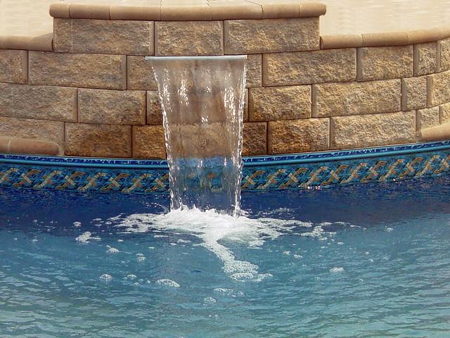 Inground Swimming Pool Waterfall Flickr Photo Sharing