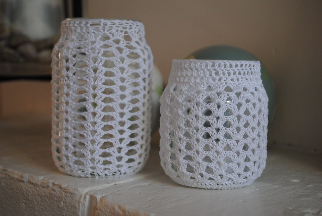 Crochet Patterns Jar Covers : Crochet jar covers Flickr - Photo Sharing!