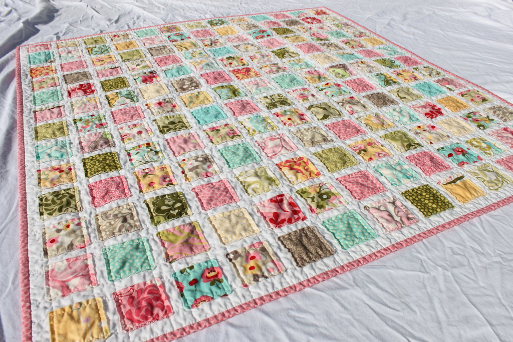 Vintage Baby Quilt Pattern With Hunky Dory Fabric By Moda Flickr