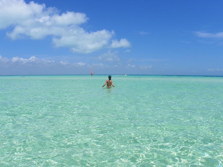Aguas cristalinas en Isla Mujeres, Riviera Maya