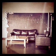 Refresh chalk mural