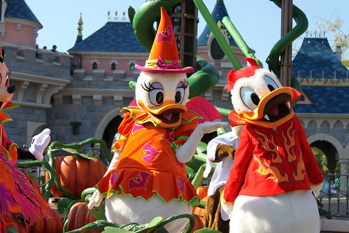 Mickey's Halloween Treat in the Street!