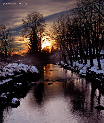 france comtefrance doubs mouthe stream sunset water trees sky clouds snow digitalcameraclub dusk riverbanks river ledoubs lowtemperature littlesiberia