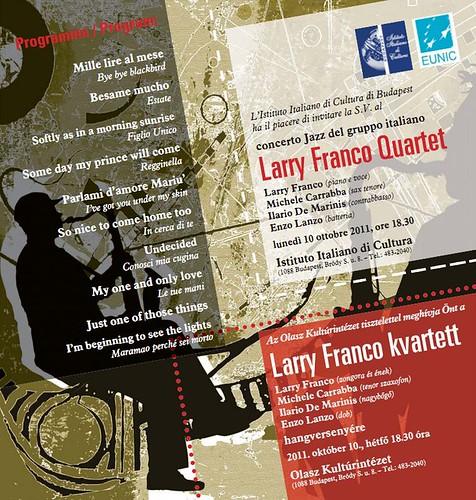 2011-10-10 Larry Franco Quartet /Olasz kultúrintézet