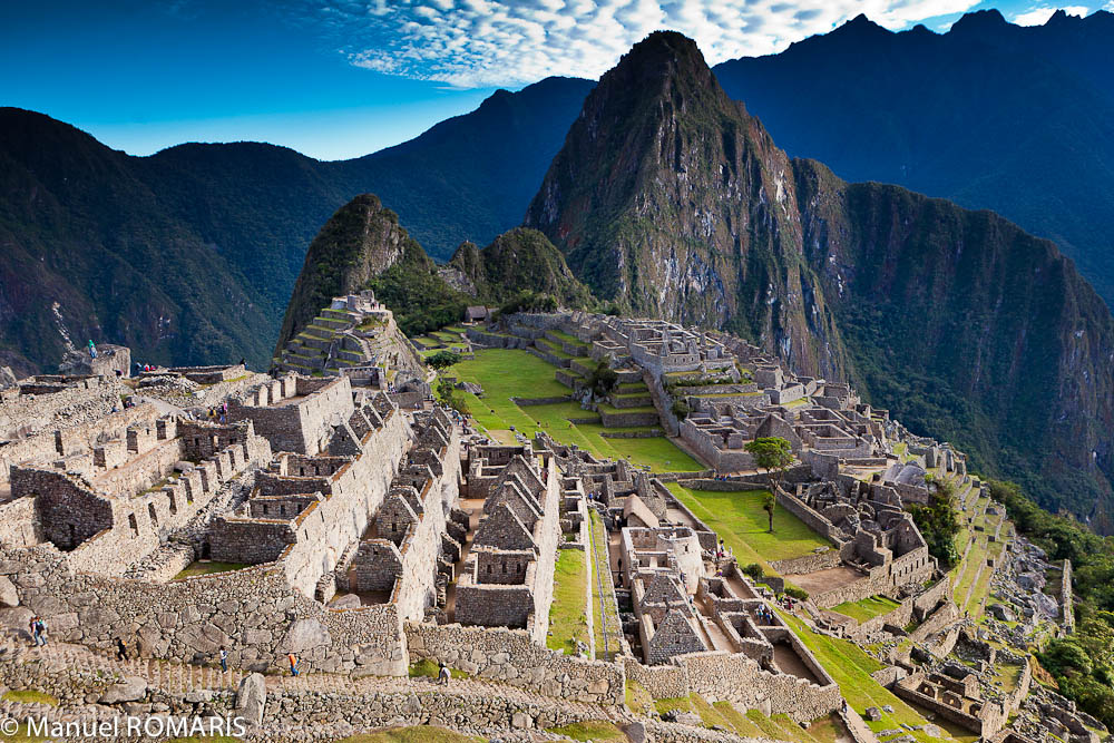 Machu Picchu, Peru, overview of ruins