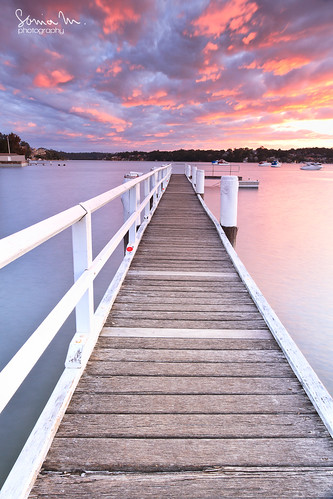 sunset water vertical canon river landscape pier jetty smooth sydney australia symmetry nsw 7d 1022mm donnellypark kylebay soniamphotography
