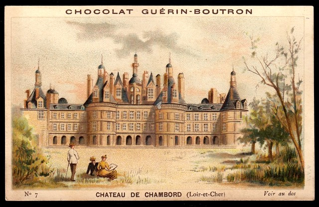 French Tradecard - Chateau de Chambord