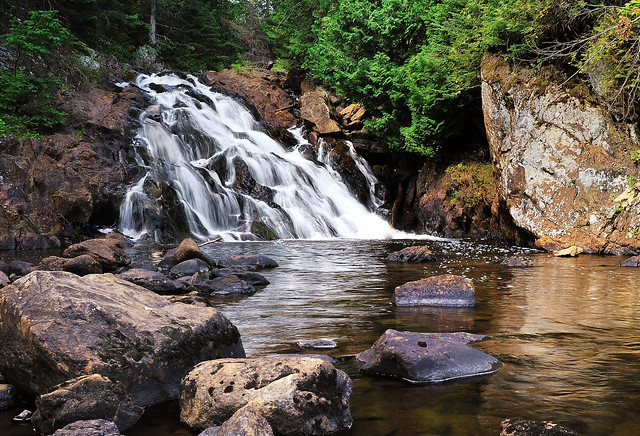 pinnacle falls -  yellow dog river  - near big bay  michigan
