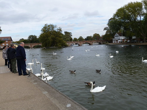 Riverside scene at Stratford-upon-Avon, England