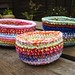 Colourful crochet bowls