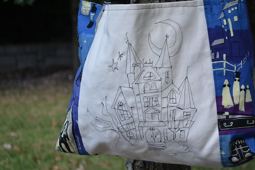 haunted house bag close up