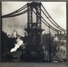 Unfinished Bridge, New York, by Alvin Langdon Coburn