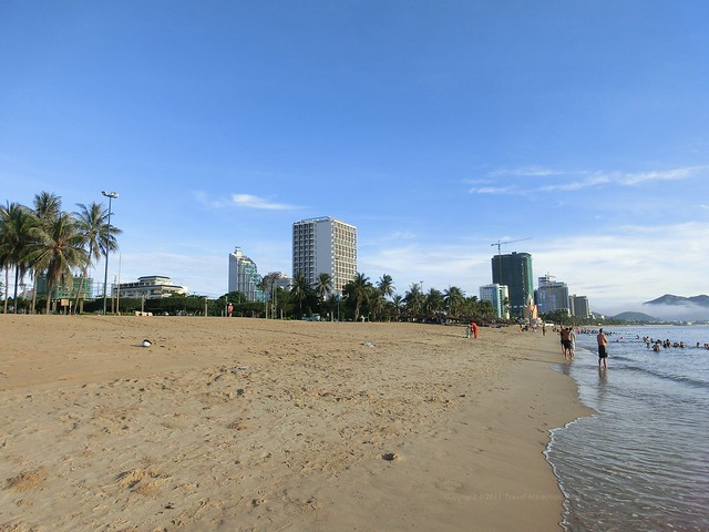 Nha Trang Beach in front of Hotel Novotel Nha Trang