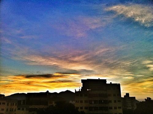 sky urban sunshine clouds sunrise buildings cityscape venezuela ciudad amanecer cielo nubes caribbean nube caribe resplandor