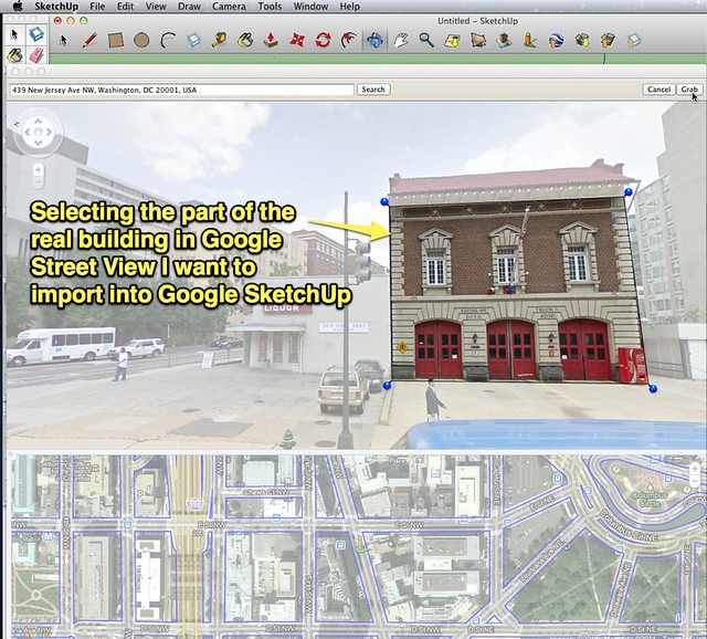 Google sketchup import from street view uploaded with for Sketchup import