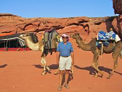 Wayne with Camels - Wadi Rum, Jordan