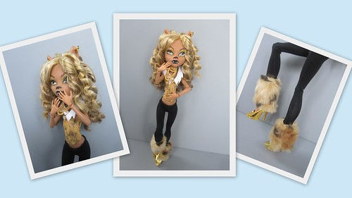 Clawdeen as the Cowardly Lion